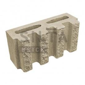 Блок декоративний Сілта-Брік Еліт 38 канелюрний 390х190х140 мм