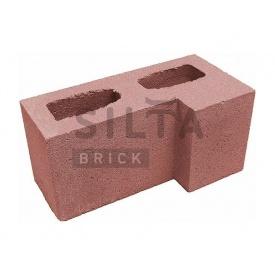 Блок гладкий Силта-Брик Цветной 24 угловой 390х190х190 мм