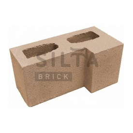 Блок гладкий Сілта-Брік Еліт 39 кутовий 390х190х190 мм