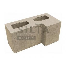 Блок гладкий Силта-Брик Элит 38 угловой 390х190х190 мм