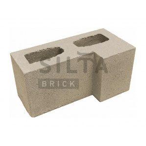 Блок гладкий Сілта-Брік Еліт 38 кутовий 390х190х190 мм