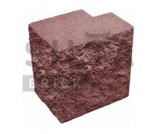Полублок декоративный Силта-Брик Цветной 24-2 угловой полнотелый 190х190х140 мм