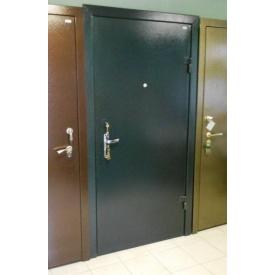 Дверь входная металлическая сталь холоднокатаная черная