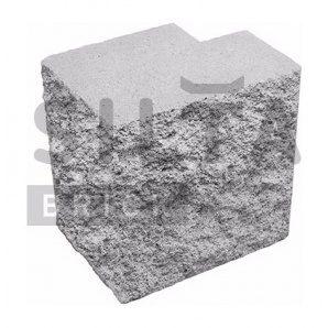 Напівблок декоративний Сілта-Брік Еліт 33 кутовий повнотілий 190х190х140 мм