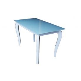 Стеклянный стол Император Белиссимо белый 1100х640х760 мм