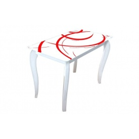Стеклянный стол Император Радуга 1100х650х750 мм