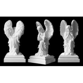 Скульптура Ангел на коліні на п'єдесталі 770х360х360 мм