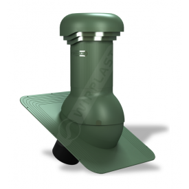 Вентиляционный выход Wirplast Wirovent Standard Pro W01 125x440 мм зеленый RAL 6020