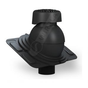 Фановий вихід Wirplast Uniwersal K86 110х265 мм чорний RAL 9005