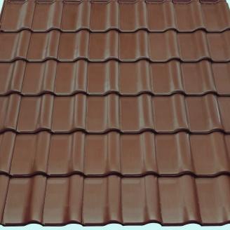 Черепиця Braas Рубін 13V Ангоба 435х276 мм коричневий