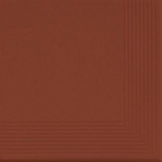 Ступень клинкерная угловая Cerrad 300х300х11 мм rot