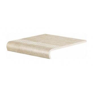 Ступень клинкерная Cerrad V-shape Cottage 330х300х11 мм salt