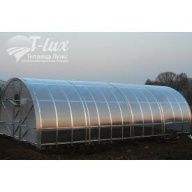 Теплица сборная Радуга из оцинкованного профиля с поликарбонатом Greenhouse 6 мм 3х4х2 м