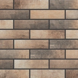 Фасадная плитка Cerrad Loft brick структурная 245х65х8 мм masala