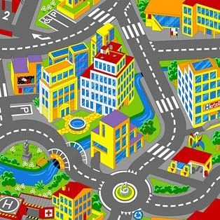 Килим дитячий Smart City 97