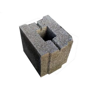 Блок стеновой керамзитобетонный 190x160x190 мм
