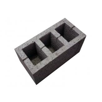 Блок керамзитобетонный 390x190x190 мм
