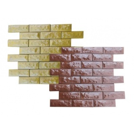 Фасадная плитка Отаман 250x80 мм коричневая