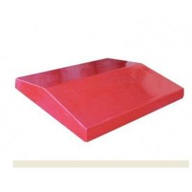 Плита для ограждения из кирпича Декор Бетон 450х500 мм красная