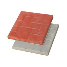 Вибролитая тротуарная плитка Ластрик 250*250*25 мм серая