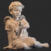 Скульптура ангела с воробушком 450x420x330 мм