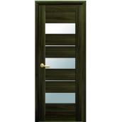 Дверне полотно Лілу зі склом сатин кедр екошпон