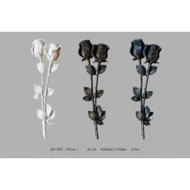 Декоративна накладка ДН-001 квіти 130х420 мм