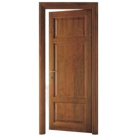 Двери из ольхи DerevBud темные с квадратами 42х900х1900 мм