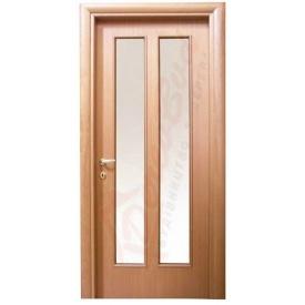 Двери из ольхи DerevBud светлые со стеклом 42х800х1900 мм