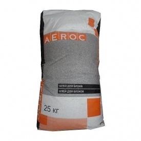 Клейова суміш AEROC Summer для газобетону літня 25 кг
