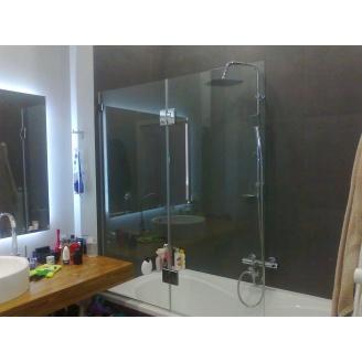 Шторка для ванної двосекційна 8 мм