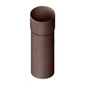 Труба водостічна з муфтою Альта-Профіль Стандарт 74 мм 3 м коричневий