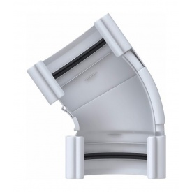 Кут ринви регульований Альта-Профіль Еліт 120-145 градусів 125 мм білий