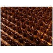 Рулонное грязезащитное входное щетинистое пластиковое покрытие 12х900х15000 мм коричневое