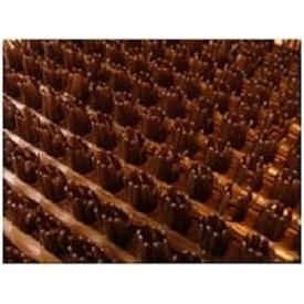 Рулонне брудозахисне вхідне щетинисте пластикове покриття 12х900х15000 мм коричневе