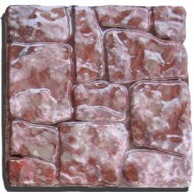 Тротуарна плитка Rocky Київська Русь 35х350х350 мм рожевий мармур