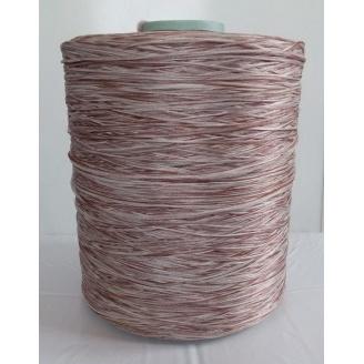 Нить для оверлока коврика меланж коричневый