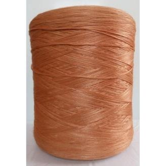 Нитка для оверлока ковролина меланж оранжевый