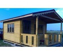 Дом деревянный сборный из профилированного бруса 6х4 м