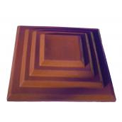 Крышка колпак для забора Каскад 450x450 мм красная