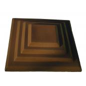 Кришка ковпак для забору  Каскад коричнева 450х450 мм