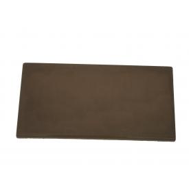 Цокольная накрывка на забор 110х400 мм коричневая