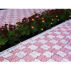 Тротуарная плитка Змейка Стандарт 30 мм серая