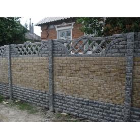Монтаж еврозабора Мрамор из бетона
