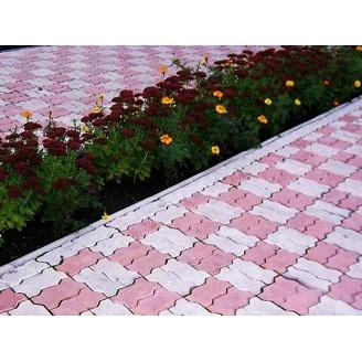 Тротуарна плитка Змійка Стандарт 30 мм сіра