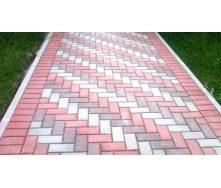 Тротуарна плитка Цегла Еліт 30 мм сірий
