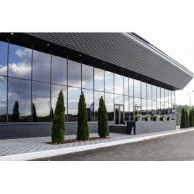 Устройство стеклянной фасадной системы