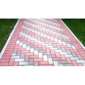 Тротуарная плитка Кирпич Элит 30 мм серый