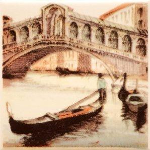 Плитка декоративная АТЕМ Parma Sity Bridge 2 B 100х100 мм