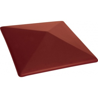Кришка ковпак для забору  Пряма 580x580 мм червона